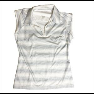 Nike Golf Womens Striped Zipper Top